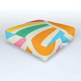 Retro Sunrise: Rainbow Edition Outdoor Floor Cushion