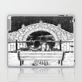 Snowfall in the Park Laptop & iPad Skin