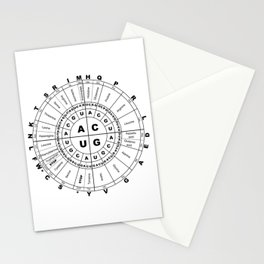 Protein Names & Types - Round Chart Stationery Cards