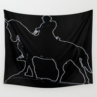 robert farkas Wall Tapestries featuring Robert E. Lee by RVACREATIONS.COM