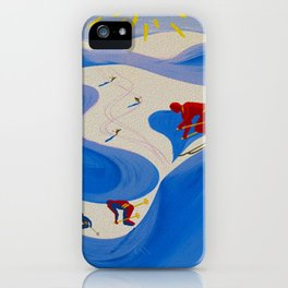 Vintage Winter Sports in France Travel iPhone Case