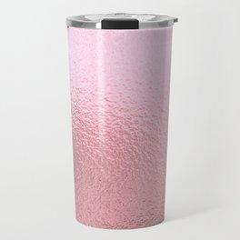 Simply Metallic in Blush Rose Gold Travel Mug