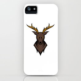 Angry Deer Sport Esport Logo Template With Long Horn iPhone Case