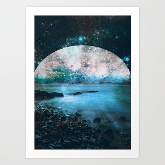 Mystic Lake Blue Green Art Print
