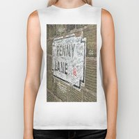 liverpool Biker Tanks featuring Liverpool Street Sign by Jonah Anderson