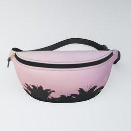 Blush pink purple sky Fanny Pack
