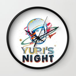 Space Cosmonaut Spaceflight Orbit Shirt & Gift Wall Clock