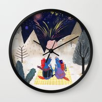 new year Wall Clocks featuring New Year by callmekim