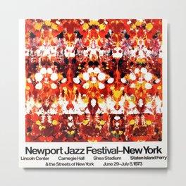 Vintage 1973 Newport Jazz Festival Poster Metal Print