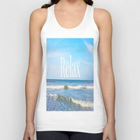 relax Tank Tops featuring Relax by JuniqueStudio