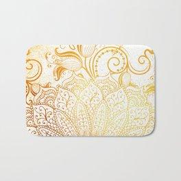 Golden brush Bath Mat