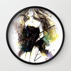 Watercolor Girl Wall Clock
