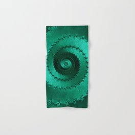 Green Filigree Hand & Bath Towel