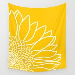 Sunflower Cheerfulness Wall Tapestry