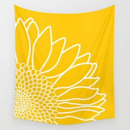 Sunflower Cheerfulness Wall Tapestry