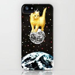 Selene greek goddess cat of the moon handcut collage iPhone Case