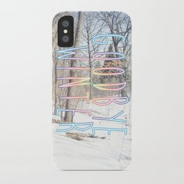 Goodbye Winter iPhone Case