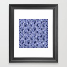 KyellBlue2...RainingPaisleys Framed Art Print