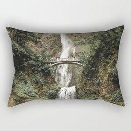 GRAY BRIDGE IN THE MIDDLE OF FALLS Rectangular Pillow