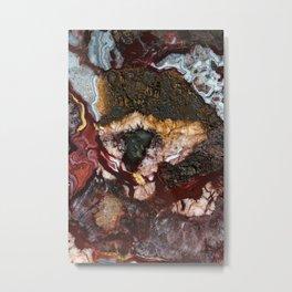 Earth treasures - colorful agate gem Metal Print