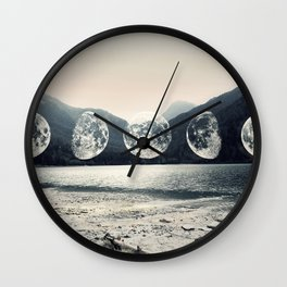 Moonlight Mountains Wall Clock