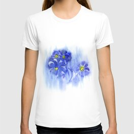 Watercolor illustration. The composition of delicate flowers. T-shirt