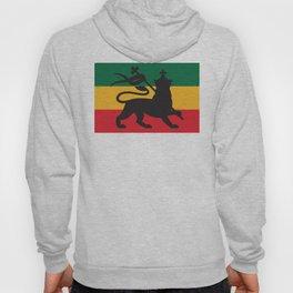 rastafarian flag with the lion of judah (reggae background) Hoody
