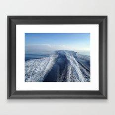Boat Wake View, Florida Keys Framed Art Print