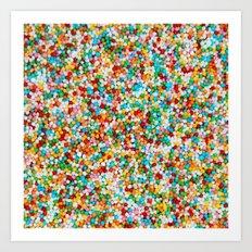 Colored Sugar – Clock 8 - Living Hell Art Print