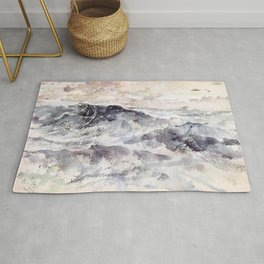 Arrangement In Blue And Silver The Great Sea By James Mcneill Whistler | Reproduction Rug