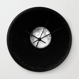 Moon Halo (Cloud series #17) Wall Clock
