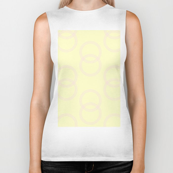 Simply Infinity Link Pink Flamingo on Pale Yellow Biker Tank