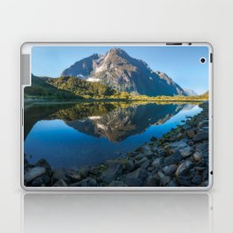 Mountain Reflection in the Bay at Milford Sound Laptop & iPad Skin