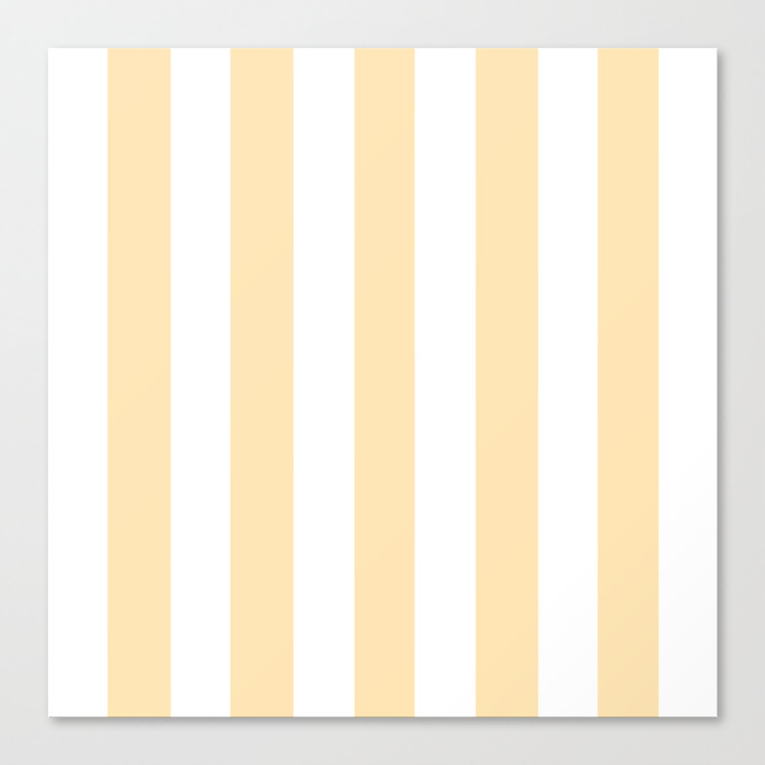 Peach pink - solid color - white vertical lines pattern Canvas Print