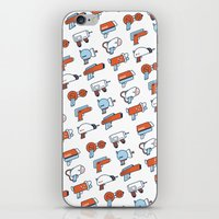 guns iPhone & iPod Skins featuring Laser Guns by Isra