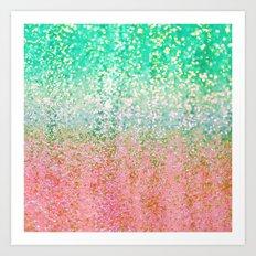 Summer Rain Merge Art Print