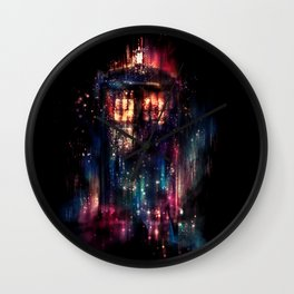 TARDIS Doctor Who Abstract Time Space Travel Wall Clock