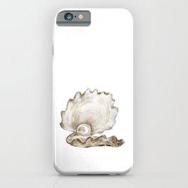 Watercolor Seashell Painting on White 2 Minimalist Coast - Sea - Beach - Shore iPhone Case