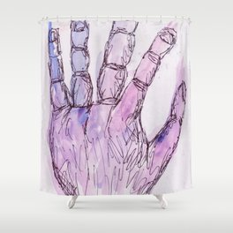 Leaking Purple Shower Curtain