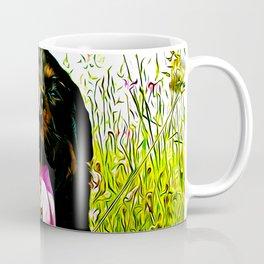 rottweiler dog long tongue va Coffee Mug
