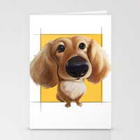 dachshund Stationery Cards featuring dachshund by joearc