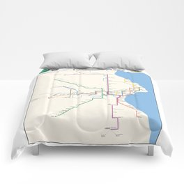 Milwaukee Transit System Map Comforters