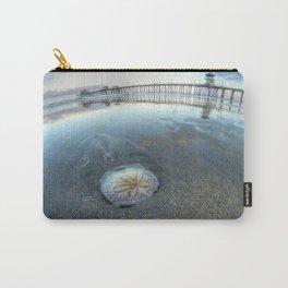 Chris Harsh Photos * A Low Tide Sand Dollar * Huntington Beach Pier  Carry-All Pouch