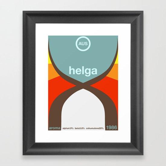 helga single hop Framed Art Print