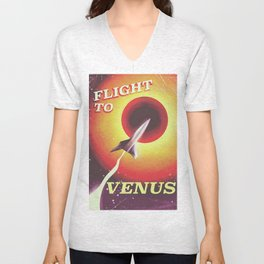 Flight to Venus Unisex V-Neck