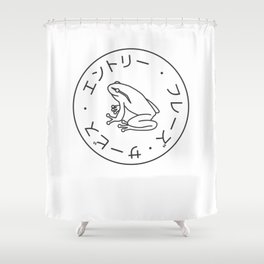 Frog Society Shower Curtain