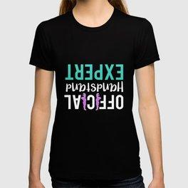 official handstand expert gymnastics design T-shirt