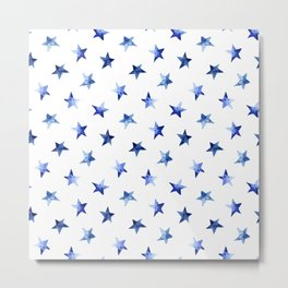 Starry || watercolor Metal Print