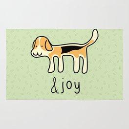 Cute Beagle Dog &joy Doodle Rug