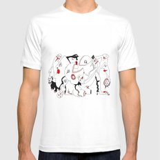 THE PARTY Mens Fitted Tee White MEDIUM